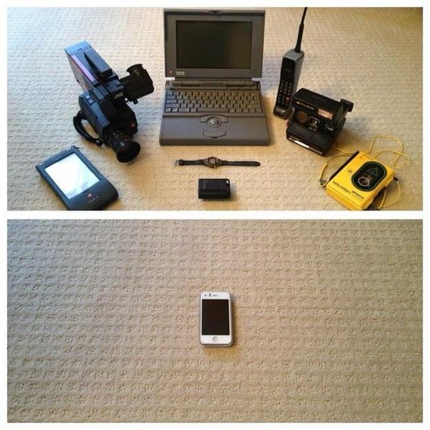 Все, что было тогда - теперь помещается в маленький телефон...