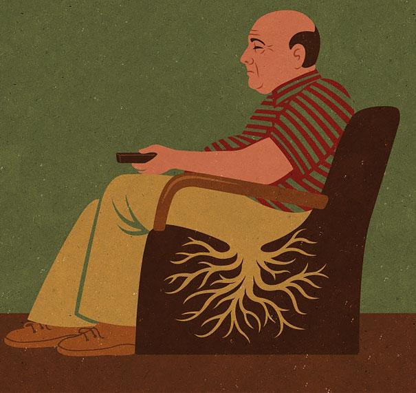 Вечное сидение перед телевизором