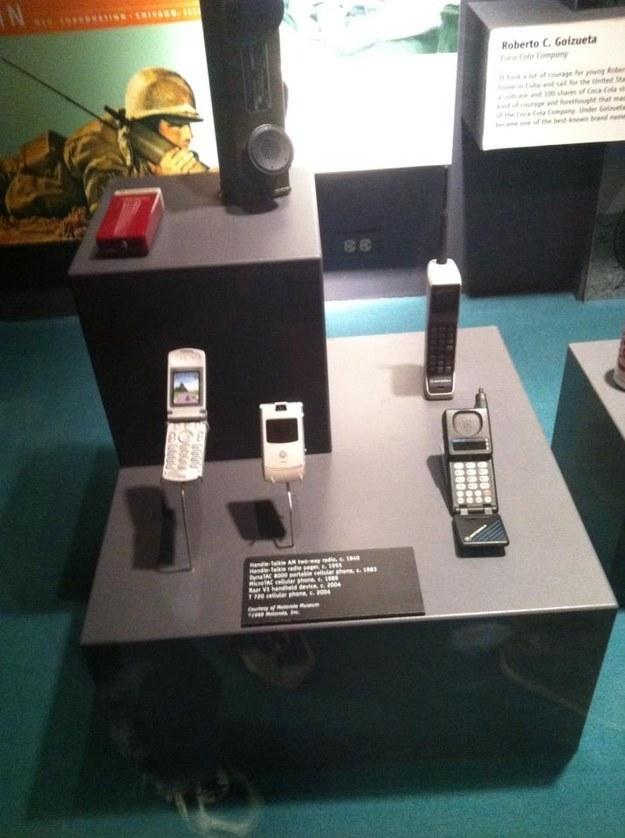 Телефоны Motorolla выставлены экспонатами в музее
