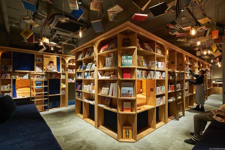 Книжный отель в Токио