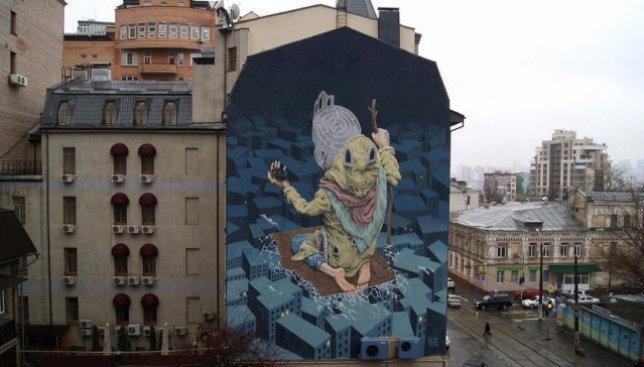 Киевский мурал признали одним из самых популярных  стрит-арт-объектов мира (Фото)