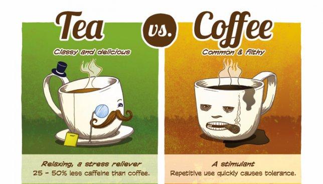 20 отличий между любителями кофе и чая