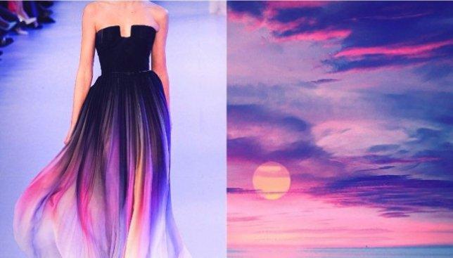 Мода и природа: как выглядят платья, которые сделаны по мотивам реальных пейзажей (Фото)