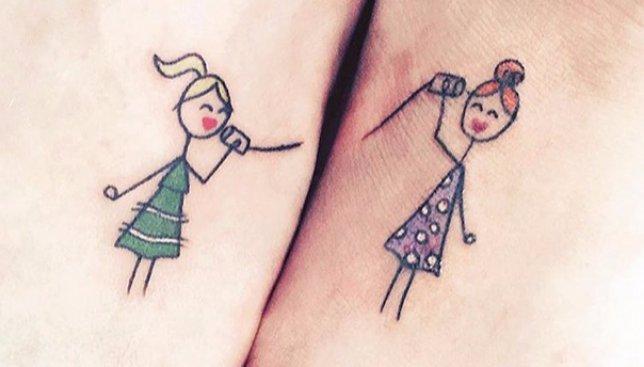 27 идей парных татуировок для родных и близких людей