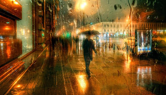 Красивые фотографии дождливого города, которые не отличишь от картины маслом