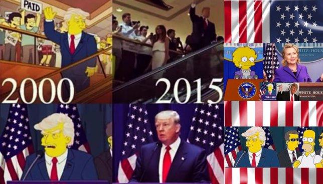 """Шокирующие новости: мультсериал """"Симпсоны"""" предсказали победу Трампа еще в 2000 году (Фото)"""