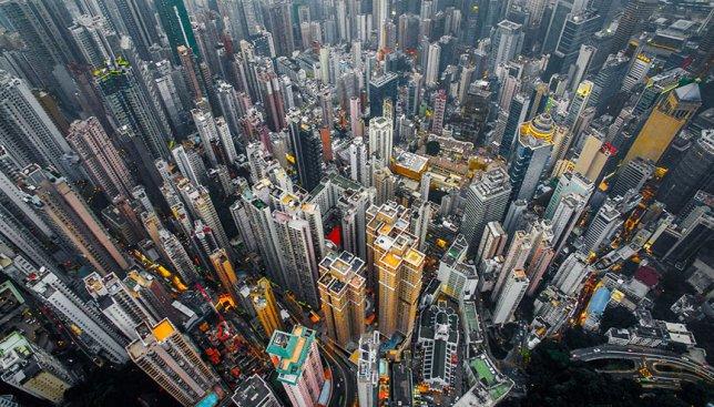 Город небоскребов: Гонконг с высоты птичьего полета поражает своим величием