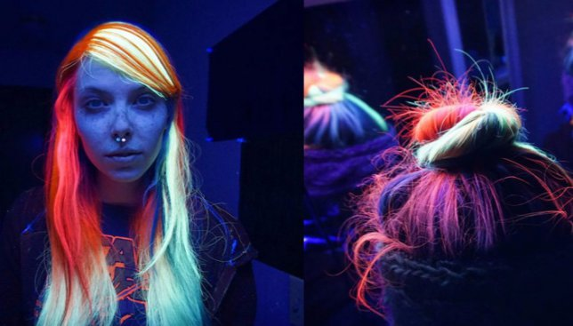 Безумный тренд 2016: волосы, которые светятся в темноте