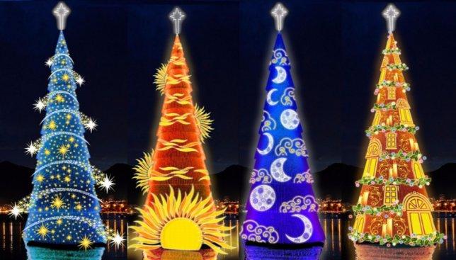 11 самых зрелищных новогодних елок мира за все времена