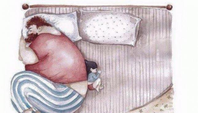 Ко дню маленьких женщин: милые рисунки про отца и дочь
