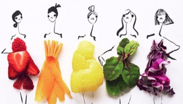 Вкусная одежда: американка создает модные наряды с помощью еды (Фото)