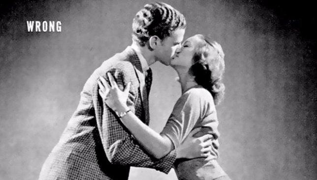 Как в журналах 1940-х годов учили людей правильно целоваться (Фото)