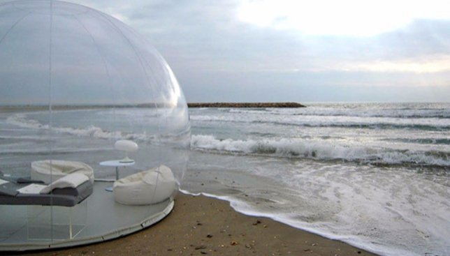 Прозрачная палатка-пузырь, в которой хотел бы переночевать каждый