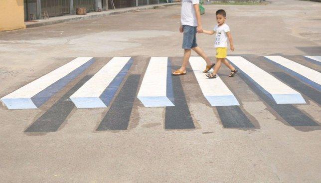 Индия отличилась: там открыли 3D зебру для пешеходов (Фото)
