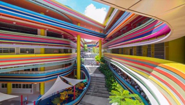 Школа-радуга: в Сингапуре открывают разноцветную школу для особенных детей (Фото)