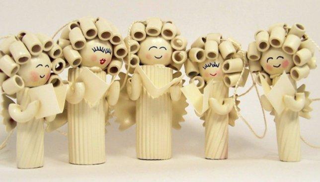 Специально ко дню пасты: фотографии рождественских украшений из макаронных изделий