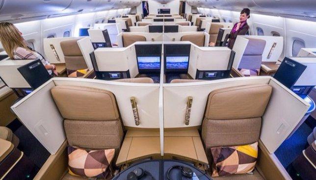 Как выглядят кабины в самолете первого класса арабской авиакомпании Etihad Airways