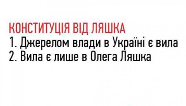 23 иллюстрации о Конституции и украинских политиках