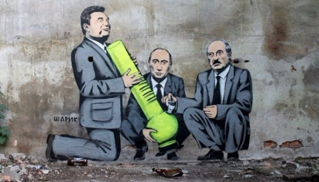 9 нестандартных уличных рисунков от украинского художника под псевдонимом Шарик