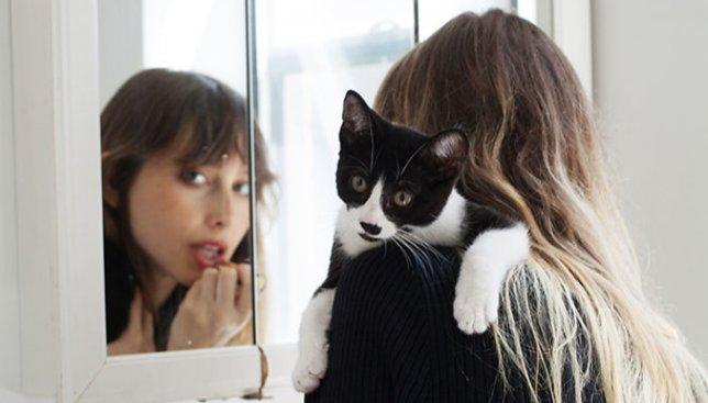 19 фотографий девушек и кошек, которых они забрали к себе с улицы