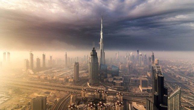 Город сказка, город мечта: Дубай с высоты птичьего полета (Фото)
