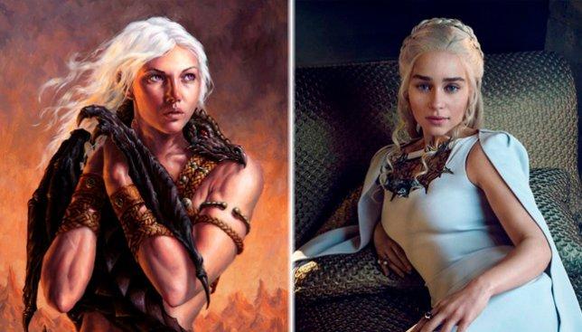 """Найдите 10 различий: как выглядят герои """"Игры престолов"""" в книге и в сериале (Фото)"""