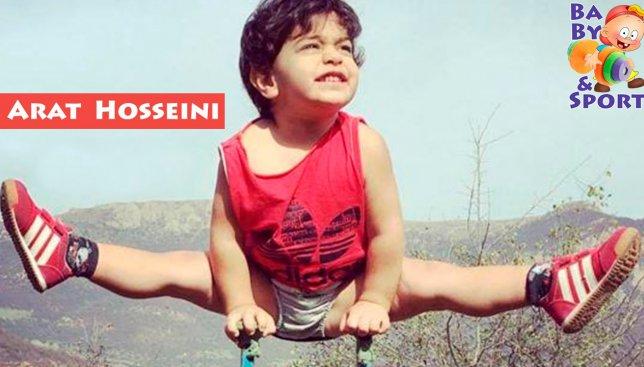Двухлетний гимнаст Арат Хоссейни научился делать сальто раньше, чем говорить