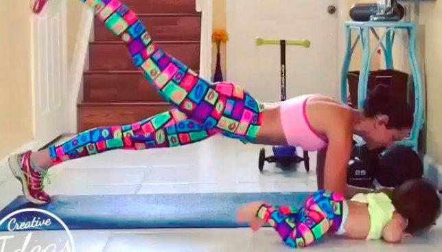 Как правильно тренироваться дома, если у вас двое детей (Видео)
