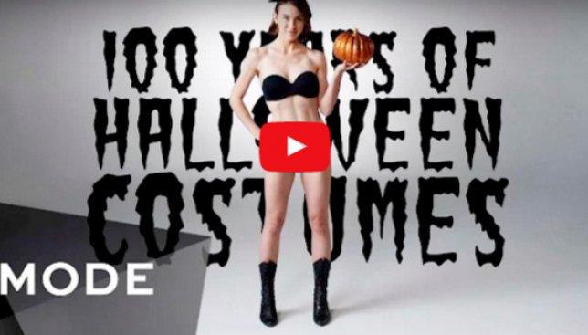 Как изменились костюмы на Хэллоуин за последние 100 лет (Видео)