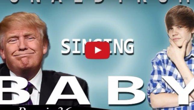 """Скрытые таланты: как песню Джастина Бибера """"Baby"""" исполнил бы Дональд Трамп (Видео)"""