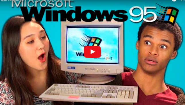 Реакция современных подростков на Windows 95 покорила сеть
