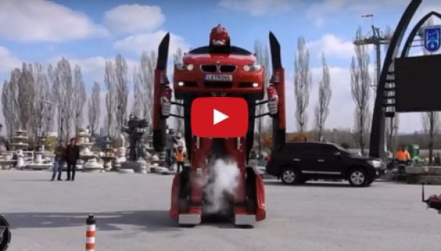 Турецкие инженеры создали Трансформера из автомобиля BMW: опубликовано видео