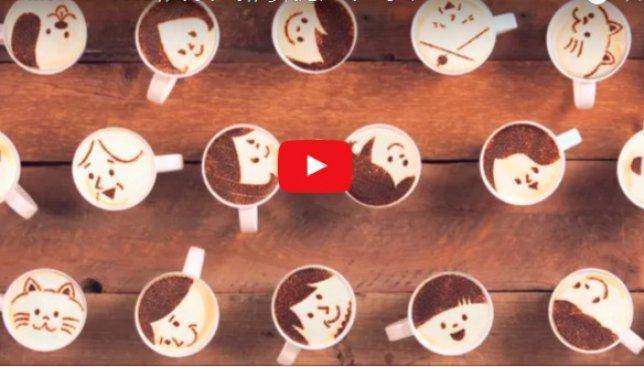 Кофе с эмоциями: история, нарисованная с помощью 1000 чашек латте (Видео)