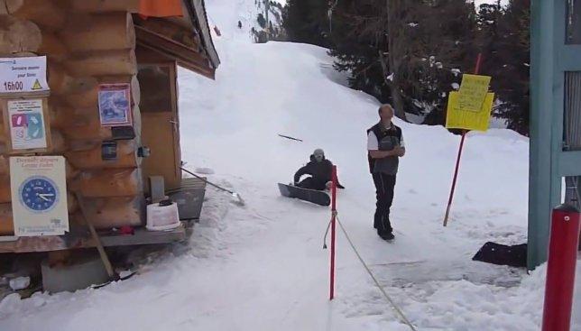 Курьезы на подъемнике: как не надо делать на сноуборде