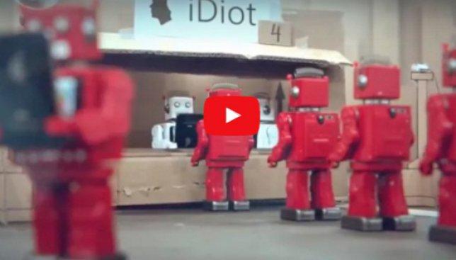 iDiots: самая жесткая пародия в сети на любителей iPhone (Видео)