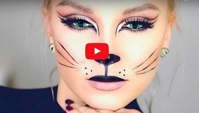 Интересный макияж на хэллоуин: как легко сделать самому (Видео)