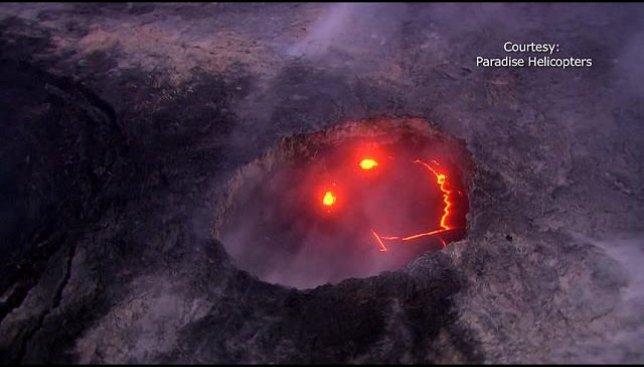 Извержение вулкана проходит с улыбкой: опубликовано видео с Гавайских островов