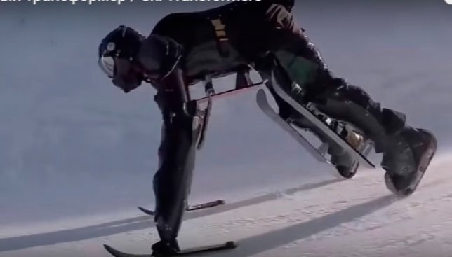 Человек-трансформер на лыжах: трюки, которые раньше никто не делал